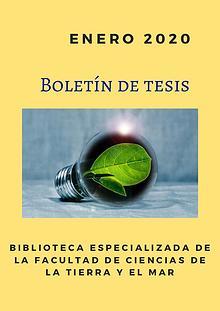 Boletín de tesis Enero 2020