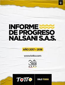 Comunicado de Progreso Nalsani SAS 2017-2018