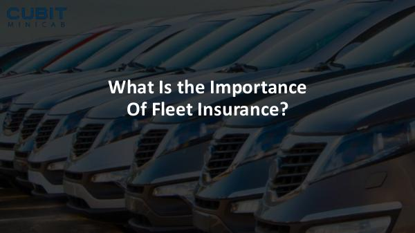 What Is the Importance Of Fleet Insurance What Is the Importance Of Fleet Insurance