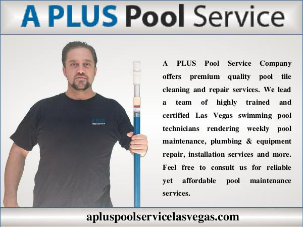 My first Publication Pool Service In Las Vegas
