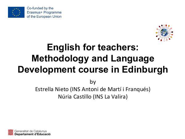 Sharing E+ training courses knowledge Training courses consortium
