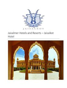 Best hotel and resort in jaisalmer