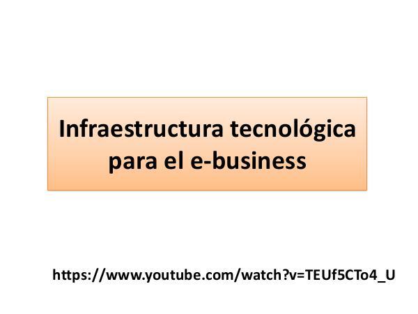 Infraestructura tecnológica para el e-business Infraestructura tecnológica para el e-business (1)