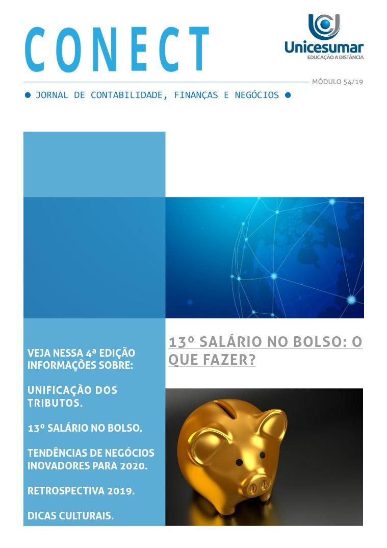 CONECT - JORNAL DE CONTABILIDADE, FINANÇAS E NEGÓCIOS - 4ª EDIÇÃO CONECT - JORNAL DE CONTABILIDADE, FINANÇAS E NEGÓC
