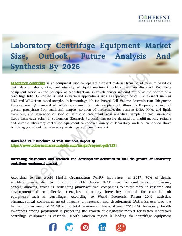 Healthcare Insights Laboratory Centrifuge Equipment Market