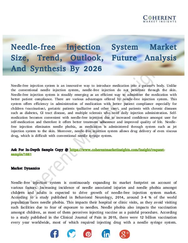 Healthcare Insights Needle-free Injection System Market