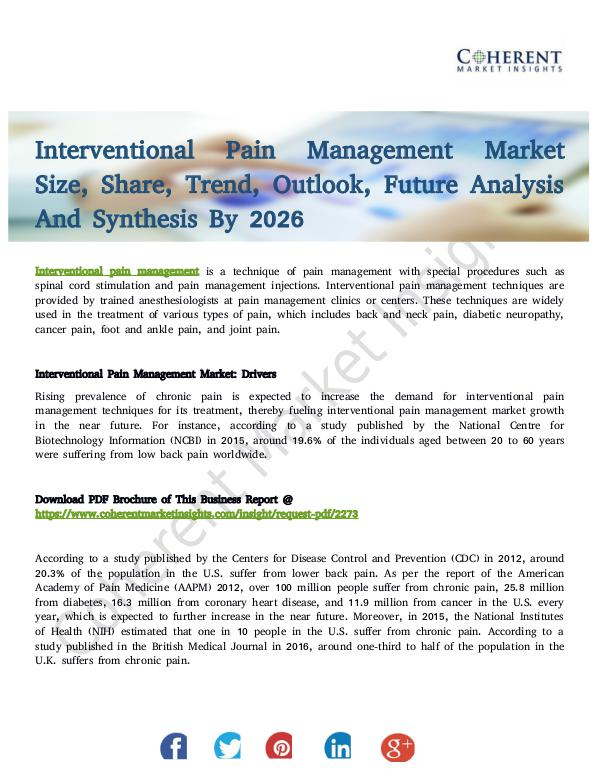Healthcare Insights Interventional Pain Management Market