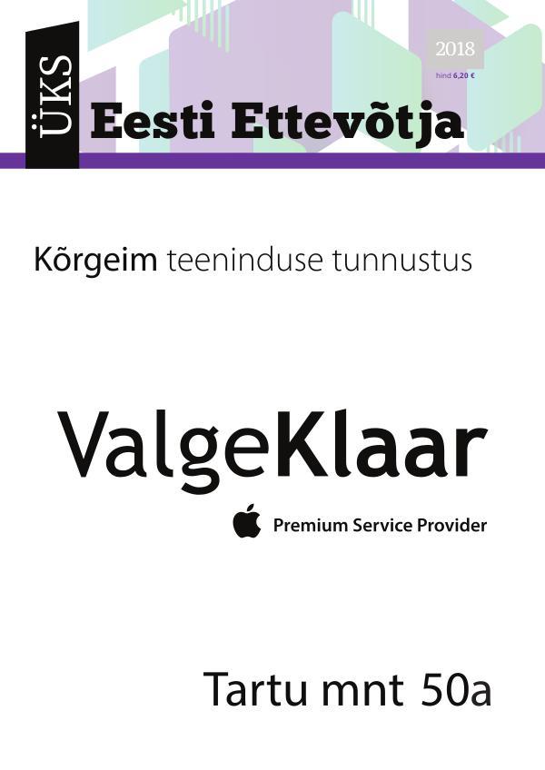 Üks Eesti Ettevõtja 2018