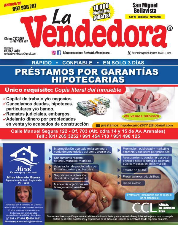 Revista La Vendedora - Edición Marzo Jesús María EDICIÓN SAN MIGUEL MARZO 2019