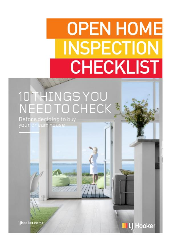 Open Home Inspection Checklist
