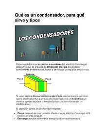 Condensadores y diodos