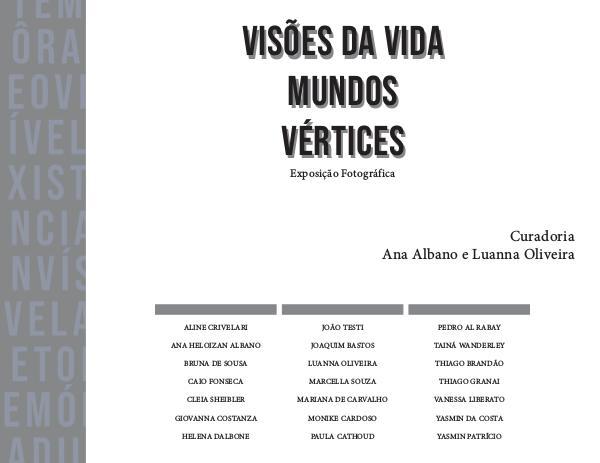 Visões da vida mundos vértices Catálogo Visões de vida mundos vértices