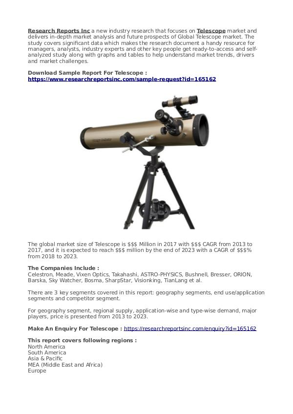 Business Research Reports 2019 Telescope