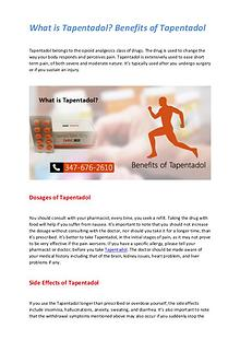 What is Tapentadol? Benefits of Tapentadol