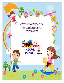 PREVENCIÓN ABUSO SEXUAL INFANTIL