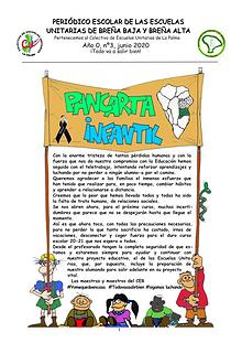 Pancarta Infantil Periódico escolar CER Las Breñas