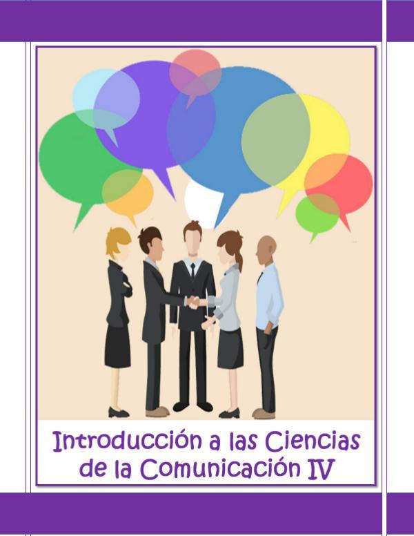 Introducción a las Ciencias de la Comunicación IV NPE Introducción a las Ciencias de la Comunicación