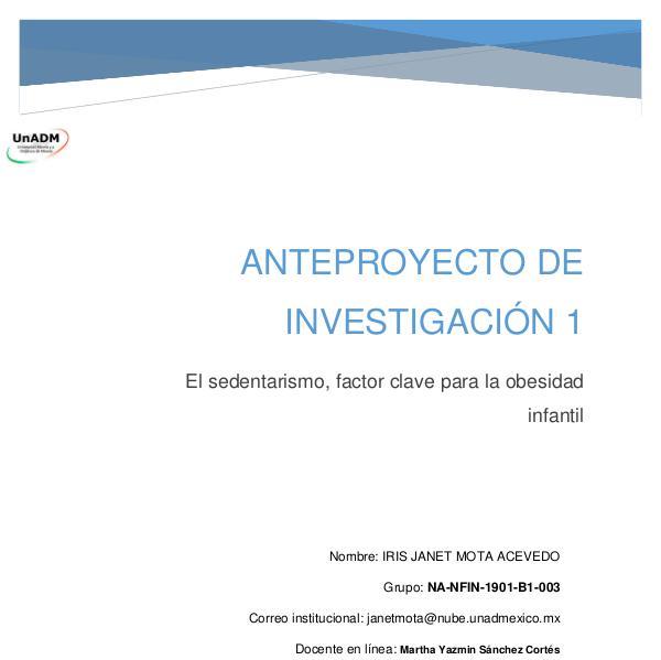 Mi primera publicacion FIN_U5_EA_IRMA_anteproyectodeinvestigacion