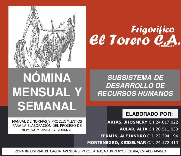 Mi primera publicacion MANUAL DE NORMAS Y PROCEDIMIENTOS EL TORERO (1)