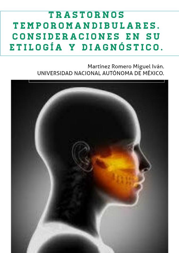 Trastornos temporomandibulares. Vol. 1/ Abril 2019