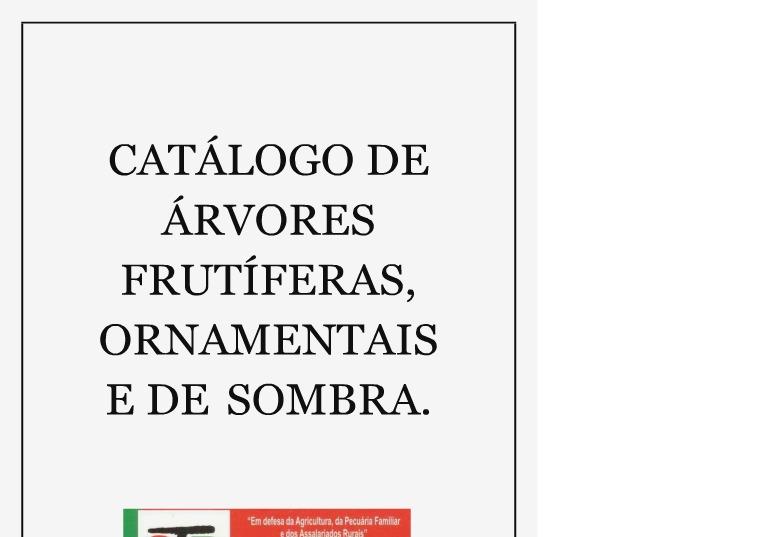 Minha primeira publicação CATÁLOGO DE ÁRVORES FRUTÍFERAS