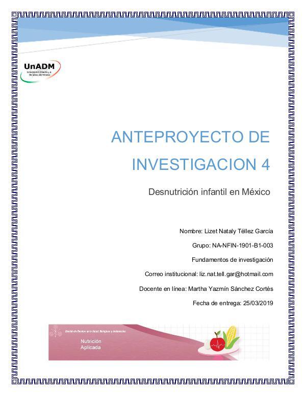 Desnutrición infantil en México FIN_U5_EA_LITG_anteproyectodeinvestigacion