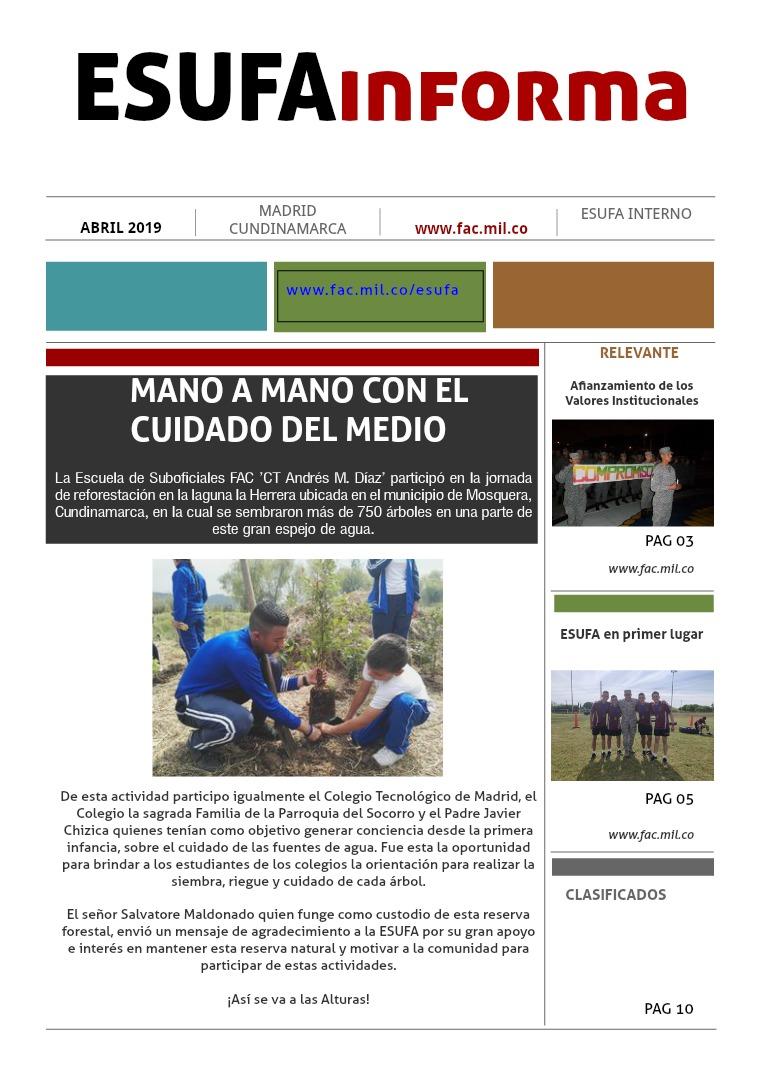 ESUFAinforma Segunda Edición ABRIl PRIMERA EDICIÓN ABRIL, ESUFA