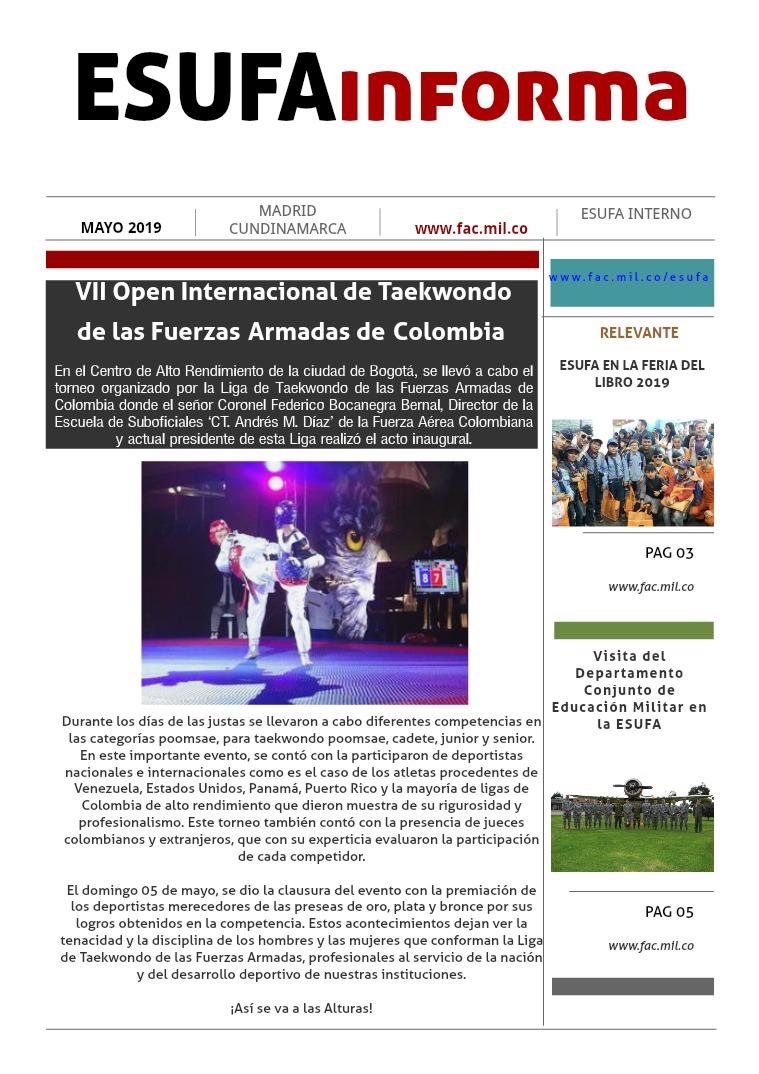 ESUFAinforma Tercera Edición MAYO Tercera edición mes de MAYO, ESUFAinforma