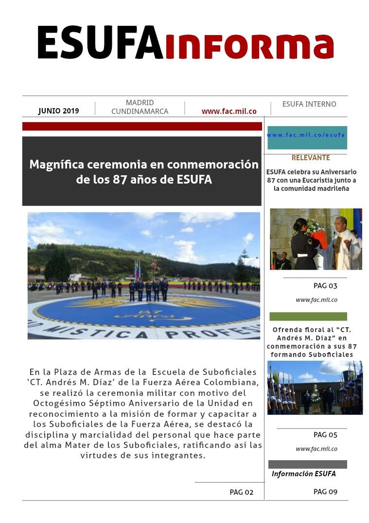 ESUFAinforma Cuarta Edición JUNIO Cuarta edición mes de JUNIO, ESUFAinforma 2