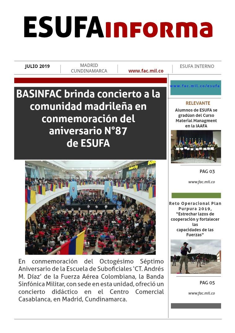 ESUFAinforma JULIO Primera edición mes de Julio , ESUFAinforma