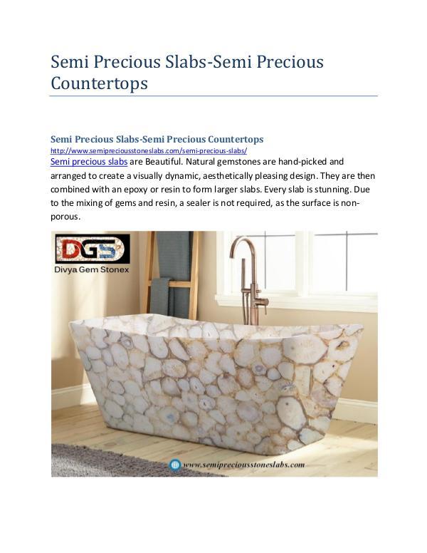 Semi Precious Slabs-Semi Precious Countertops