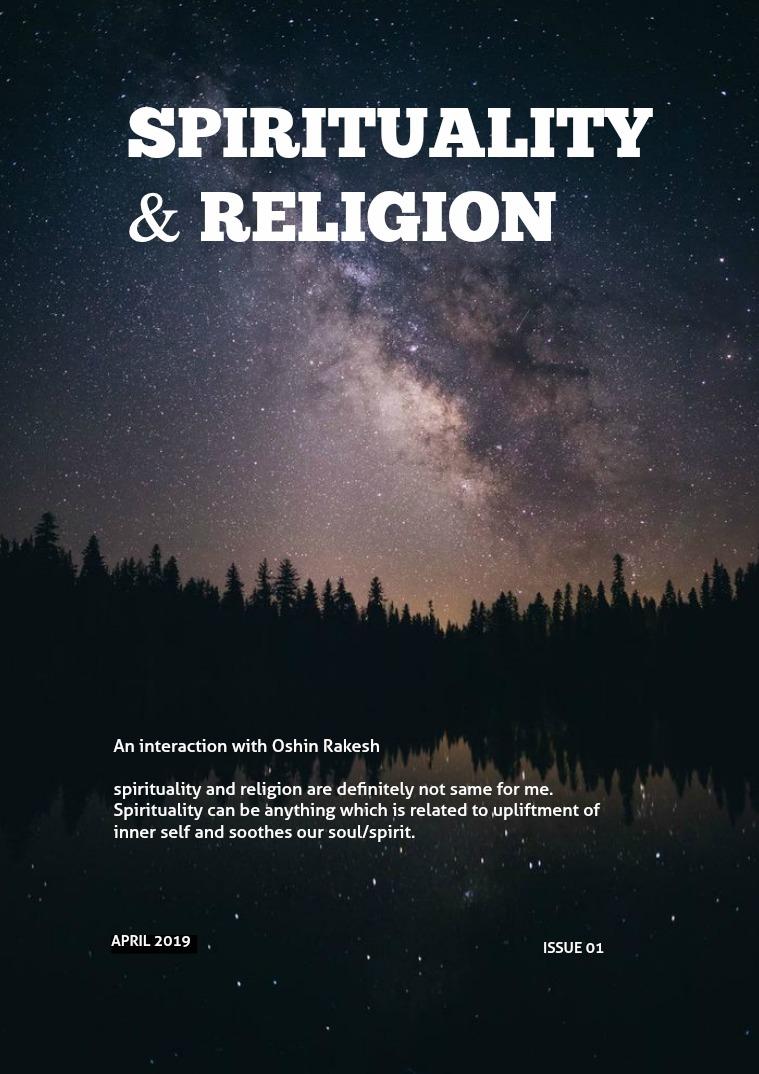 Spirituality and Religion Spirituality and Religion