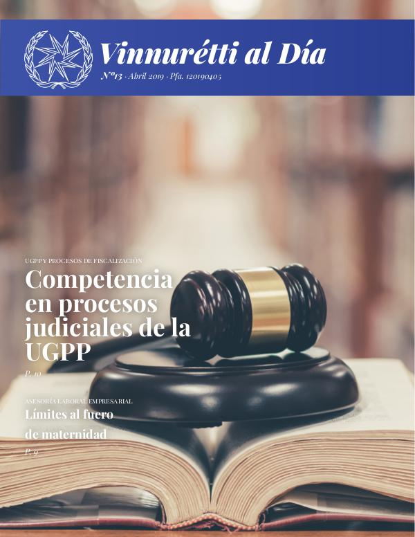 VINNURÉTTI AL DÍA - Edición mes de enero Abril 2019