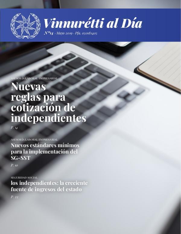 VINNURÉTTI AL DÍA - Edición mes de enero Mayo 2019