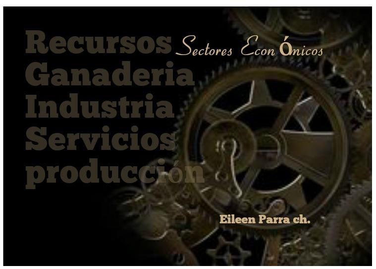 Mi primera publicacion SECTORES ECONOMICOS