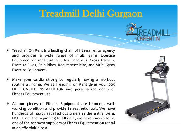 Treadmill Delhi Gurgaon Treadmill On Rent In Delhi