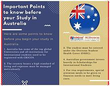 Points you should know before Study in Australia