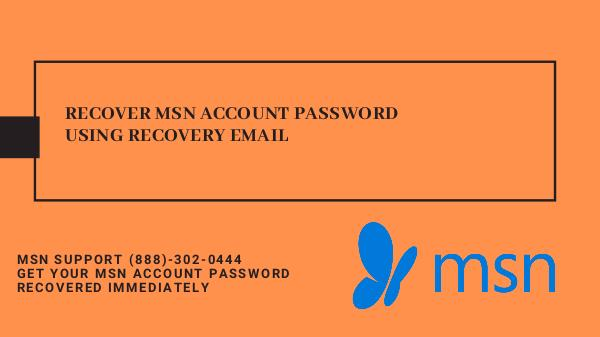 Msn Account Recovery using Recovery Email Recover MSN Account Password Using Recovery Email