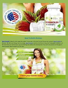 Apex Forskolin Reviews ! Weight loss