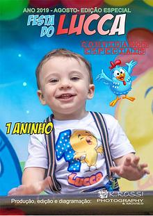 Revista do Aniversário de 1 Aninho do Lucca