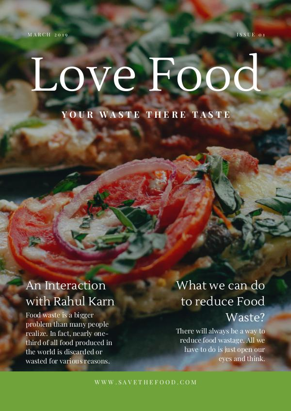 My first Publication Final Food Magazine
