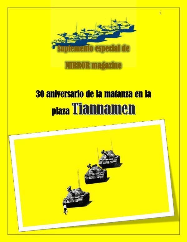 30 años de la masacre en Tiannamen Suplemento Tiannamen