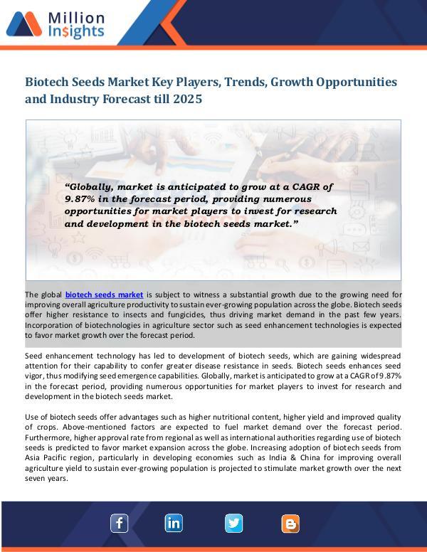 Biotech Seeds Market Biotech Seeds Market