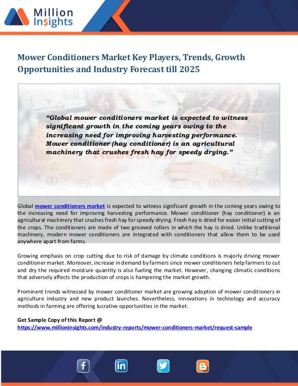 Mower Conditioners Market Mower Conditioners Market