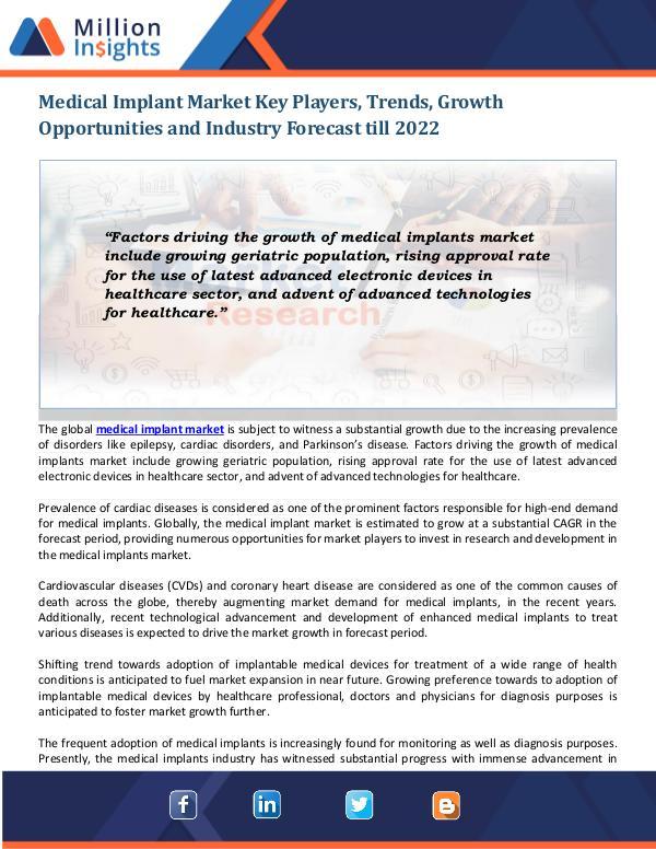 Medical Implant Market Medical Implant Market