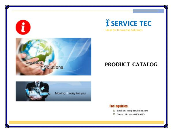 My first Publication IST Catalog