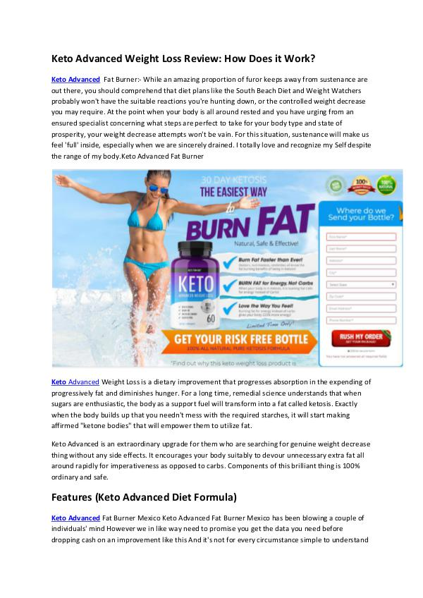 Keto Advanced Weight Loss Review: How Does it Work? Keto Advanced Weight Loss Review