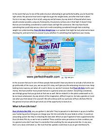 Pure Life Keto Best way To Burn Fat Fast Reviews, Price