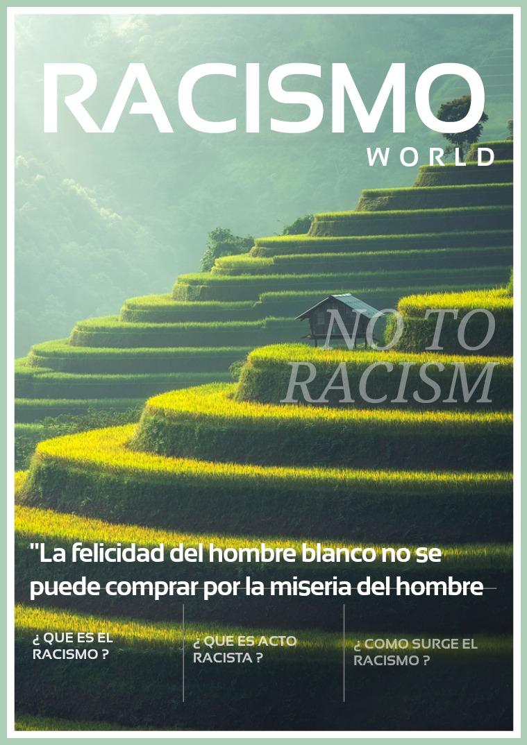 Mi primera publicacion EL RACISMO