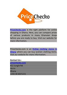 Online Clothing Stores in Ghana | Pricechecko.com